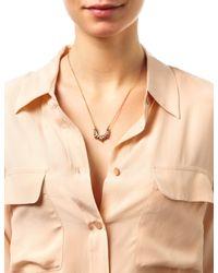 Pamela Love   Pink 14-Kt Rose-Gold Spike Necklace   Lyst
