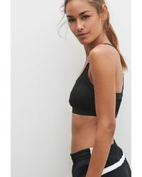 Forever 21 - Black Low Impact - Mesh Sports Bra - Lyst