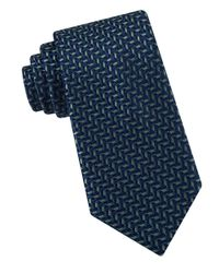 Michael Kors | Green Pin Point Dash Tie for Men | Lyst