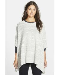 Two By Vince Camuto | White Cable Knit Poncho | Lyst