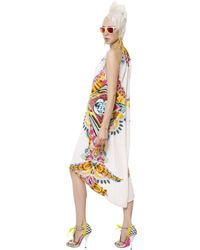 Manish Arora - White Printed Beaded Crepe Dress - Lyst