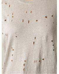 IRO - Natural Distressed T-shirt - Lyst