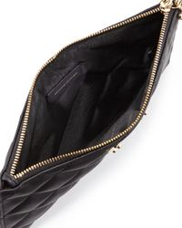 St. John - Black Large Quilted Leather Wristlet - Lyst