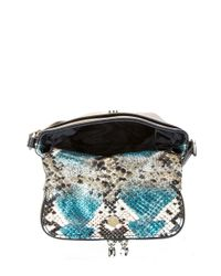 Kenneth Cole Reaction | Blue Wooster Street Leather Foldover Crossbody Bag | Lyst