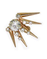 Vickisarge - Metallic Gold-Plated 'Burma' Swarovski Crystal Earring - Lyst
