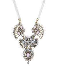 Forever 21 - Metallic Rhinestone And Faux Gem Statement Necklace - Lyst
