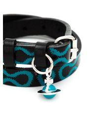 Vivienne Westwood - Black 'squiggle' Bracelet - Lyst