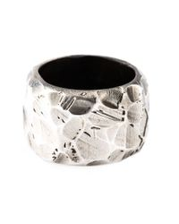 Henson | Metallic Thick Faceted Ring for Men | Lyst