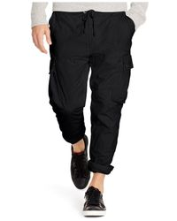 Polo Ralph Lauren - Black Straight-fit Utility Pants for Men - Lyst