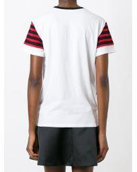 Marc By Marc Jacobs - White Asymmetric Striped T-shirt - Lyst