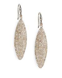 Bavna - Metallic Diamond & Sterling Silver Drop Earrings - Lyst
