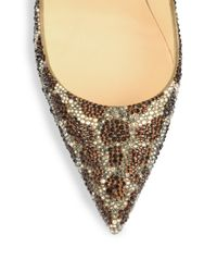 Christian Louboutin - Multicolor So Kate Leopard-Print Crystal Pumps - Lyst