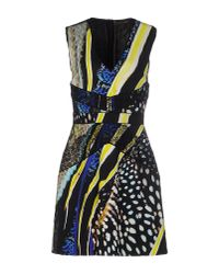 Roberto Cavalli | Black Short Dress | Lyst