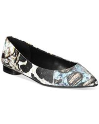 Nine West | Black Onlee Printed Flats | Lyst