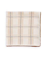 John W. Nordstrom - Brown John W. Nordstrom Pattern Silk Pocket Square for Men - Lyst