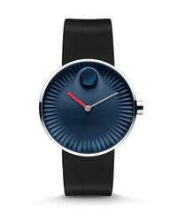 Movado - Blue Edge Stainless Steel & Silicone Strap Watch/midnight Dial - Lyst