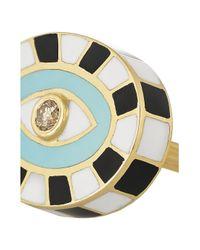 Holly Dyment - Blue 18karat Gold Enamel and Diamond Ring - Lyst