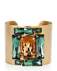 Janis By Janis Savitt - Metallic Gold-Tone Crystal Cuff Bracelet - Lyst
