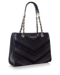 MICHAEL Michael Kors | Black Susannah Medium Tote Bag | Lyst