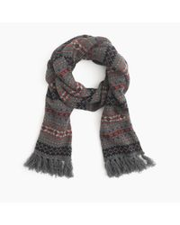 J.Crew | Multicolor Lambswool Fair Isle Scarf for Men | Lyst