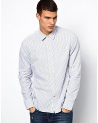 Pepe Jeans - Blue Stripe Shirt for Men - Lyst