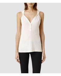 AllSaints - White Twill Top - Lyst