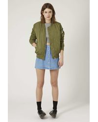 TOPSHOP - Brown Ma1 Bomber Jacket - Lyst