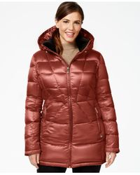 Calvin Klein | Purple Plus Size Packable Down Puffer Coat | Lyst