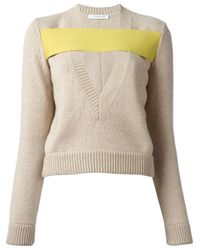 Givenchy   Natural Banded Sweater   Lyst