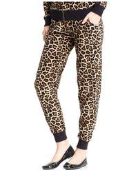 Michael Kors | Multicolor Michael Leopard-print Drawstring Track Pants | Lyst