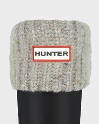 HUNTER - Gray Granite Fleck Boot Socks - Lyst