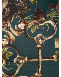 Dolce & Gabbana - Green Key Print Scarf - Lyst