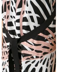 Proenza Schouler | Pink Abstract Print Belted Dress | Lyst