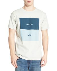 RVCA - Blue 'opposites Box Age Dry' Graphic Crewneck T-shirt for Men - Lyst
