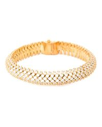 Saint Laurent | Metallic Popcorn Chain Bracelet | Lyst