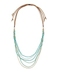 Nakamol - Blue Multi-strand Beaded Necklace - Lyst