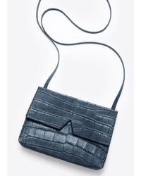 Vince | Blue Signature Collection Stamped Croc Baby Cross-Body Bag | Lyst