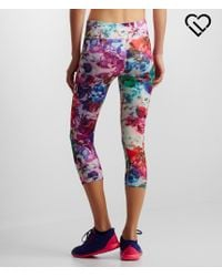 Live Love Dream | Purple Lld Abstract Floral Cropped Leggings | Lyst