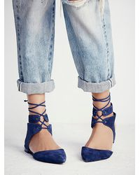 Free People - Blue Kolida Flat - Lyst