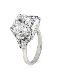 Carat* - White Premier Asscher Trilogy Ring - Lyst
