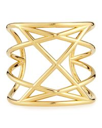 Marc By Marc Jacobs | Metallic Majorie Golden Cuff Bracelet | Lyst