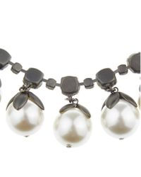 Weekend by Maxmara - White Pearl And Crystal Choker Necklace - Lyst