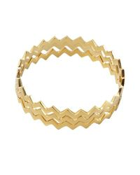 Joanna Laura Constantine - Metallic Set Of Three Gold Zigzag Bangles - Lyst