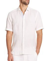 Saks Fifth Avenue | White Linen Sportshirt for Men | Lyst