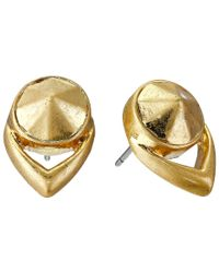 Vince Camuto - Metallic Stone Stud Earrings - Lyst