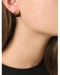 Lara Bohinc - Yellow 'collision' Earrings - Lyst