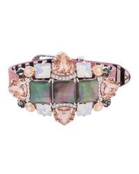 Henri Bendel | Pink Duchess Gem Cluster Bracelet | Lyst