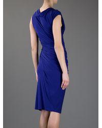 Donna Karan New York | Blue Sleeveless Dress | Lyst