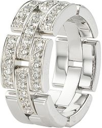 Cartier | Metallic Maillon Panthére 18ct White-gold And Diamond Ring | Lyst