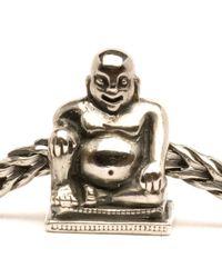 Trollbeads - Gray Buddha Silver Charm Bead - Lyst